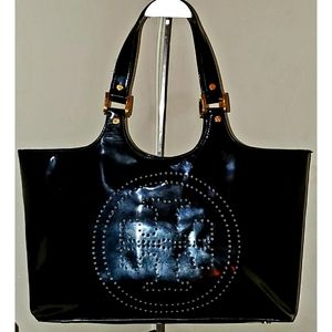 Tory Burch Lrg Bombe Black Patent Leather Tote 🖤
